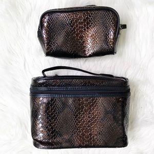 Snake Print Travel & Makeup Cases